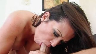 Aroused mature brunette gal Raquel Devine could not make no doubt of how good it felt while lad was fucking her