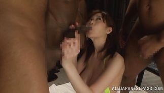 Sinful Sayuki Kanno with huge tits got fucked in a from behind position