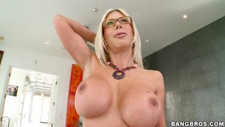 Fresh big boobed cutie Puma Swede is pleasuring horny fucker with stimulating shlong riding