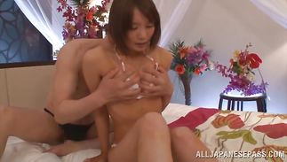 Remarkable playgirl Airi Suzumura is bouncing up and down all over stranger's prick