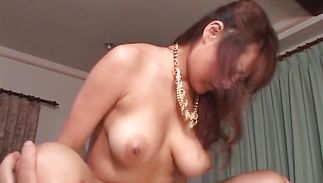 Carnal gf Betty Lin with big tits receives a passionate spooning