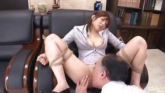 Magical Yuma Asami with firm tits rapidly jumps on a pulsating pecker
