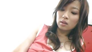 Sassy big breasted mature perfection Maaya Kurihara asked a male to play with her tits and touch her wazoo