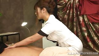 Angelic Satou Haruka with firm knockers blows hung hunk