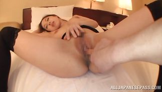 Spicy milf Erika Kitagawa with big tits wants that prick unfathomable in her tight cunt