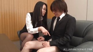 Mouthwatering breasty mature Nachi Kurosawa is sucking dinky like a pro wench