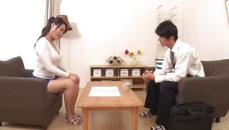 Awesome mature Kotone Kuroki is fucking dude and getting creampied although she did not want it