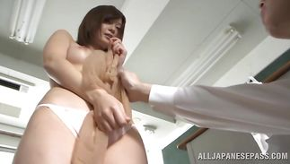 Curvaceous mama Rina Ishiharas sharing donga in superb modes during xxx