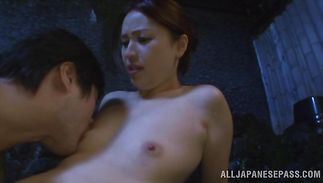Hunk pulls his dick out and destroys luxurious mature Yurie Matsushima