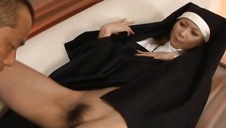Stupendous mature Rika Sakurai had sex with her guy 'cuz she had to pass the exam