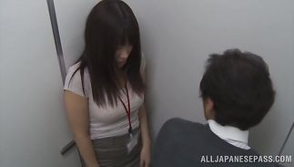 Luscious mature girl Miku Sunohara asked a fucker to play with her tits and touch her wazoo