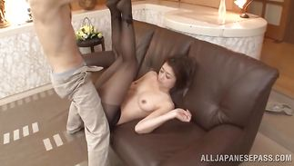 Exquisite Maki Hokujo loudly cums on a throbbing cock