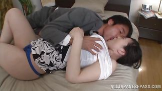 Aphrodisiac Arisa Ikoma with curvy tits checks the jock for a fuck
