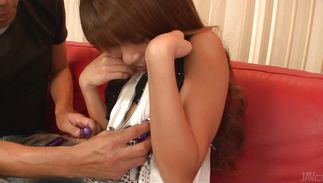 Slutty aged Misaki Tanemura getting hammered up with desire