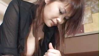Prodigious mature girlfriend Juri Matsuzaka with biggest tits got a boner up her tight bum and enjoyed it greater quantity than she hoped