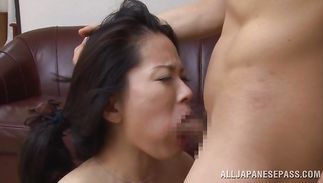 Heavenly mature slut Miki Sato with round tits wants boyfrend to fuck her