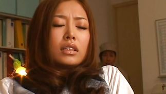 Topnotch woman Sarasa Hara gets her fur pie slammed