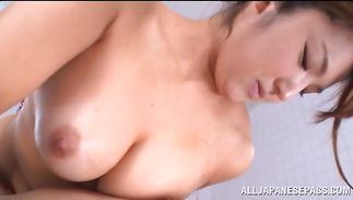 Bosomed maiden Shiori Kamisaki is kinky and ready for some hot act