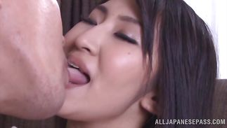 Magnificent Marina Shiina with firm whoppers teases a brutal bf