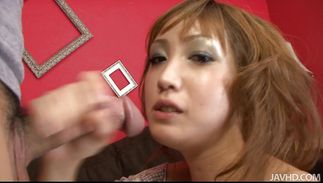 Horny mature slut Yuki Mizuho with great tits is avid to suck dangler after a few drinks