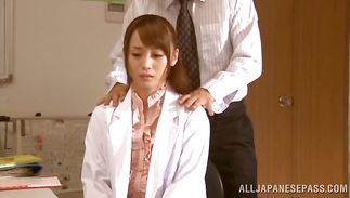 Exquisite wench Fuuka Nanasaki asked fuckmate to fuck her tight vagina until she experiences an agonorgasmos