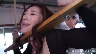 Slutty mature Marina Matsumoto got down on her knees to suck dick