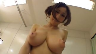 Appetizing mature bombshell with great tits is moaning loudly while taking lover