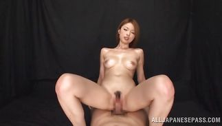 Beguiling diva Rino Mizusawa got a dinky up her tight wazoo and started moaning and screaming from pleasure