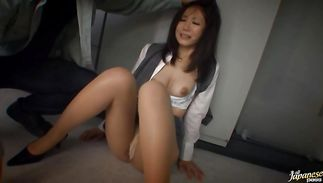 Delectable big titted mature Matsuri Kadota has her way with hunk