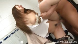 Passionate Hikari Nishino likes to take it deep and suck one-eyed monster
