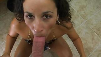 Remarkable dark-haired mature Ruby Sky is about to begin riding a rock hard lever