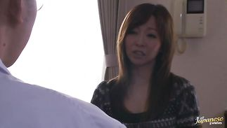 Dazzling Kaori with big tits got fucked from the back until she started moaning and screaming from enjoyment
