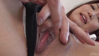 Mikuni Maisaki with handsome tits is voracious and ready to satisfies her lad