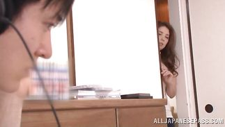 Cunning Misa Yuki got her poontang licked and screwed the way that babe always wanted