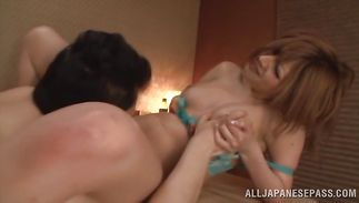 Engaging Reira Akane with large tits enjoys riding a large and hard dick