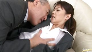 Elegant mature Seiko Shiratori got a nice hard stick up her tight a-hole as well as copher
