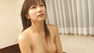 Lovable maiden Yui Seto with great mounds meets a playmate and just now wants to fuck him