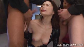 Tempting chick Shiori Kamisaki receives a thorough ass-licking and pussy plowing
