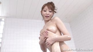 Ambitious bosomed mature perfection Rei Aimi got fucked the way she always wanted