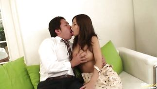 Amazing busty mature maid Sumire Matsu wants a large hard cock in her aperture