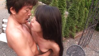 Stupefying gal Eririka Katagiri getting her virgin pussy fucked first pal