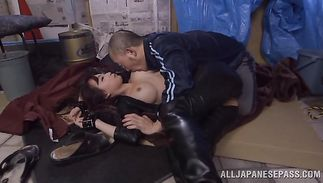 Tasty older darling Claire Hasumi is engulfing a hard python like a real hooker and getting cum on her face
