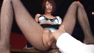 Bawdy floosy Nanami Kawakami is gently sucking a massive love rocket and geting cum in her mouth