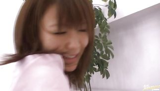 Alluring lady Nanako Mori with large tits got banged from the back until she started moaning