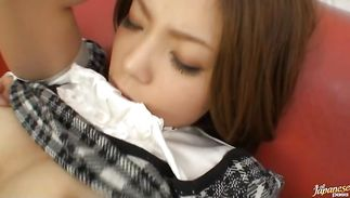 Remarkable lady Kurumi Katase is willing for some sexy banging