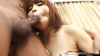 Overwhelming Ryouka Yuzuki got fucked in the wazoo after she sucked dangler