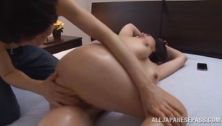Fascinating Miki Sato with firm tits gets banged terrifically and achieves agonorgasmos