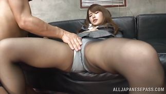 Prurient mature girl Sumire's needy pussy takes a big boner balls unfathomable