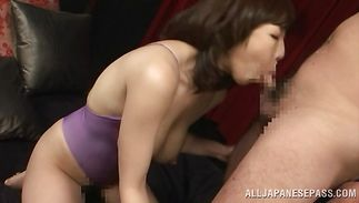 Glorious big titted mature Minako Kahara has her trimmed twat deeply penetrated
