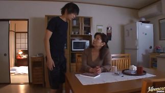Doing sensational bosomed Chizuru Iwasaki's pussy by the playmate so damn hard